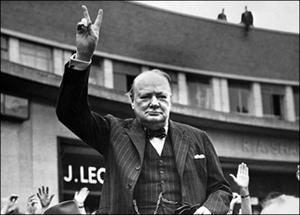 Винстон Черчиль в Лондоне